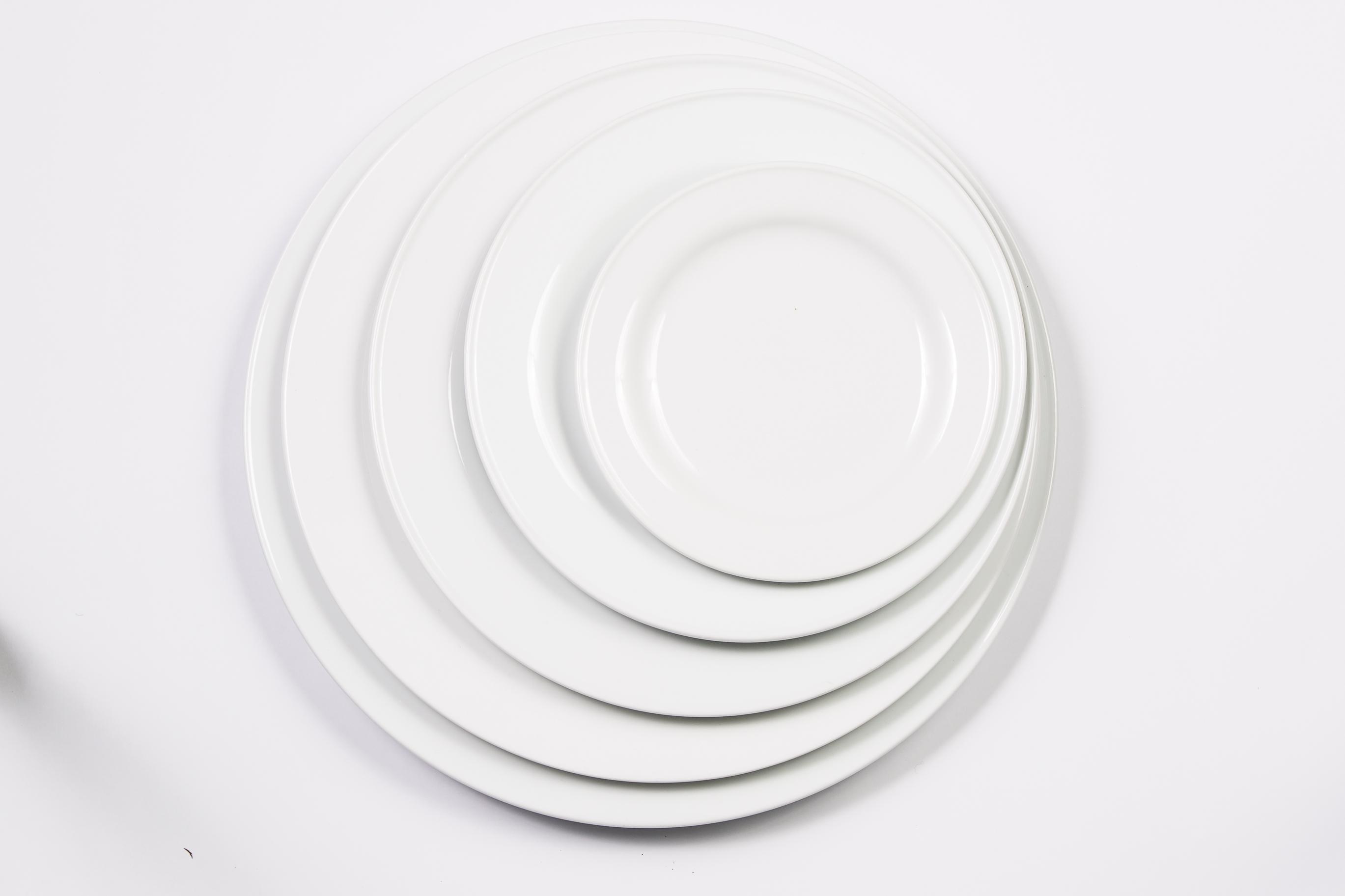 Plato pan crockery 15 cm porcelana blanca crockery rental - Platos porcelana blanca ...